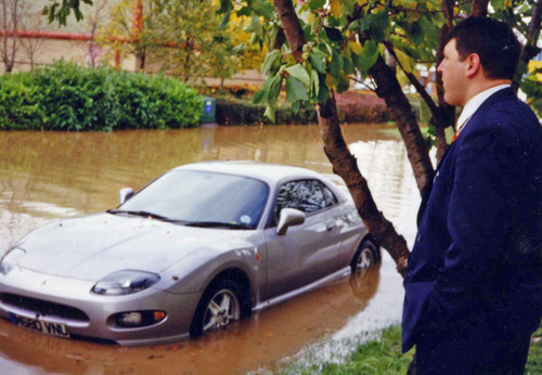 Watery woes for unlucky motorist