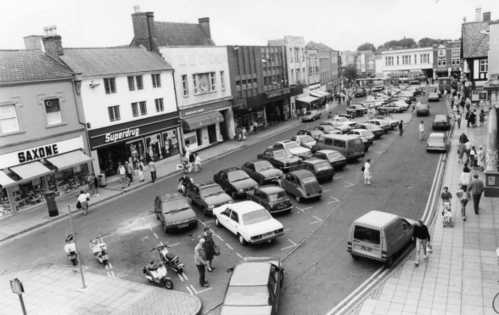 Market Place before pedestrianisation