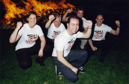 Echo team salute firewalk success